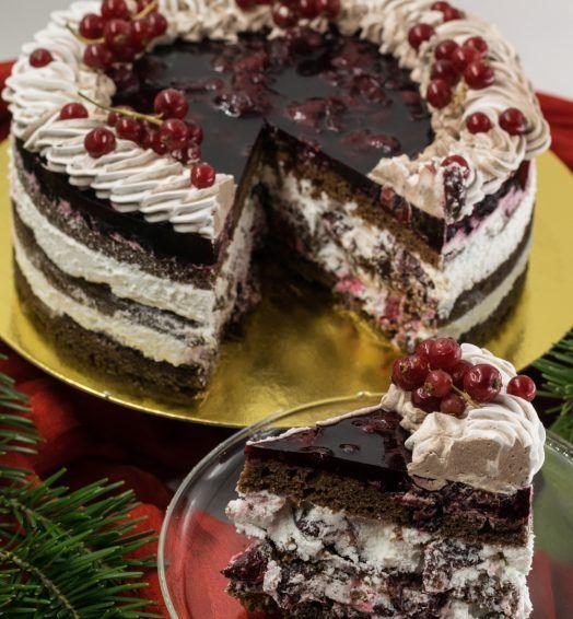 Boozy Sour Cherry Cake
